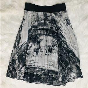 Abstract Midi Skirt